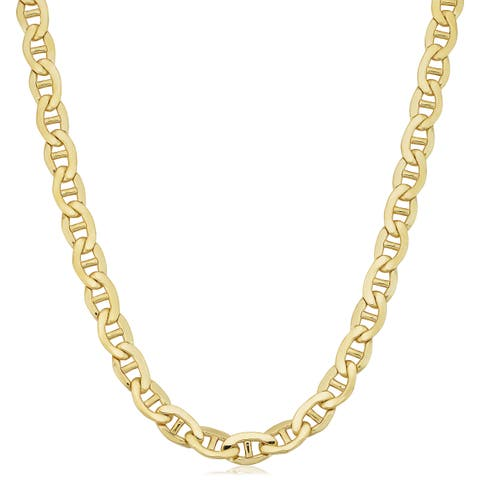 Fremada 14k Yellow Gold Filled 7.8-mm Mariner Link Chain Men's Necklace
