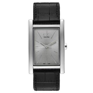 Calvin Klein Men's Stainless Steel, Leather Watch