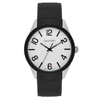 Calvin Klein Silicone and Aluminum Swiss Quartz Men's Watch