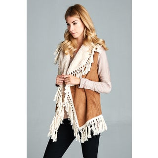 Spicy Mix Women's Nathalie Faux Suede Knotted Tassel Accent Vest (3 options available)