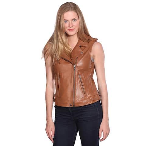 Nuborn Women's Leather Moto Vest