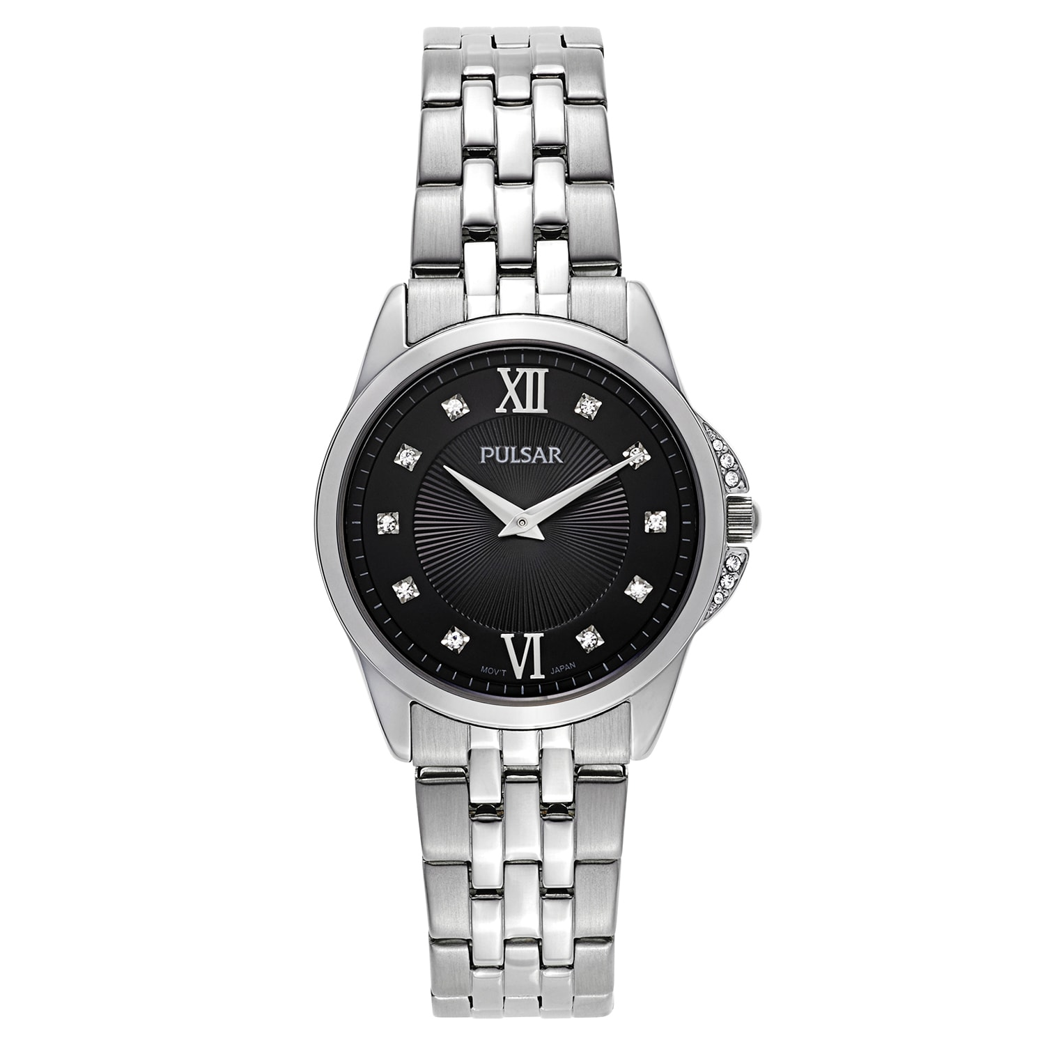 PULSAR Women's Night Out Stainless Steel Black Mineral Di...