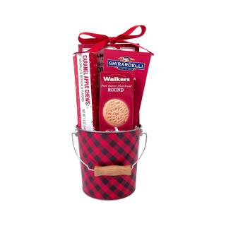 Christmas Candy And Chocolate Patchwork Pail