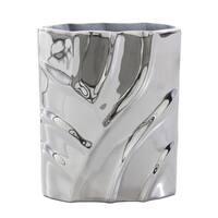 Mandara Nickel Plated Aluminum Decorative Vase