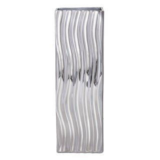 Mandara Nickel Plated Aluminum Decorative Vase