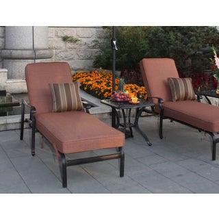 Darlee St. Cruz Cast Aluminum 3-piece Chaise Lounge Set