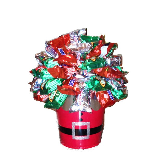 Christmas Snickers Candy Bouquet