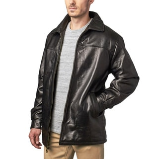 Men's Black Pebble Grain Lambskin Leather Jacket
