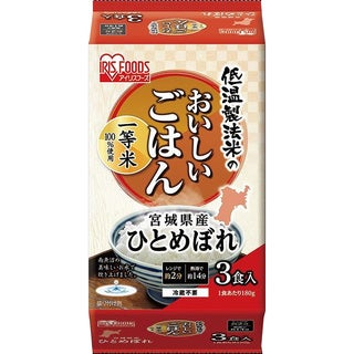 Hitomebore 6.3-ounce Authentic Japanese Cooked White Rice (Pack of 3)