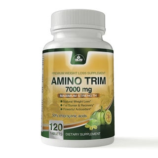 Amino Trim 3-in-1 Fat Burner Garcinia Cambogia, BCAA, Green Coffee Bean Extract (120 Tablets)
