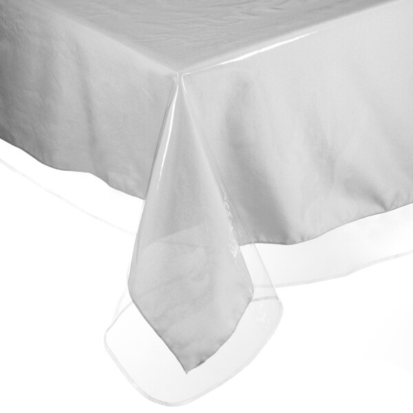 Marvelous Easy Care Super Clear Vinyl Tablecloth Protector   Free Shipping On Orders  Over $45   Overstock.com   20097362