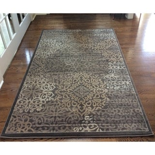 Plaza Mia Brown Area Rug (7'10 x 10'6)