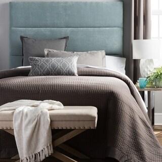 Humble + Haute Hereford King Size Blue Velvet Upholstered Headboard