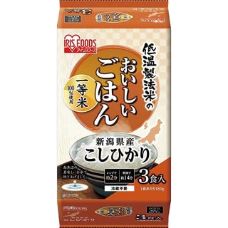 Iris USA Koshihikari Authentic Japanese 6,3-ounce Cooked White Rice (Pack of 3)