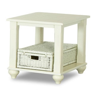 Treasures White End Table