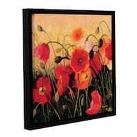 Shirly Novak's 'Poppy Party' Gallery Wrapped Floater-framed Canvas