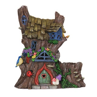Exhart Solar Fairy House Planter