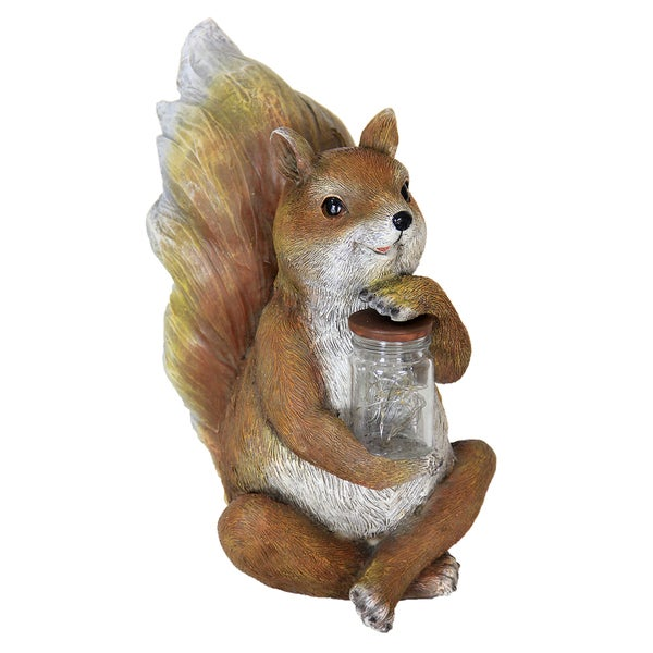 Shop Exhart Brown Resin Solar Powered Squirrel With