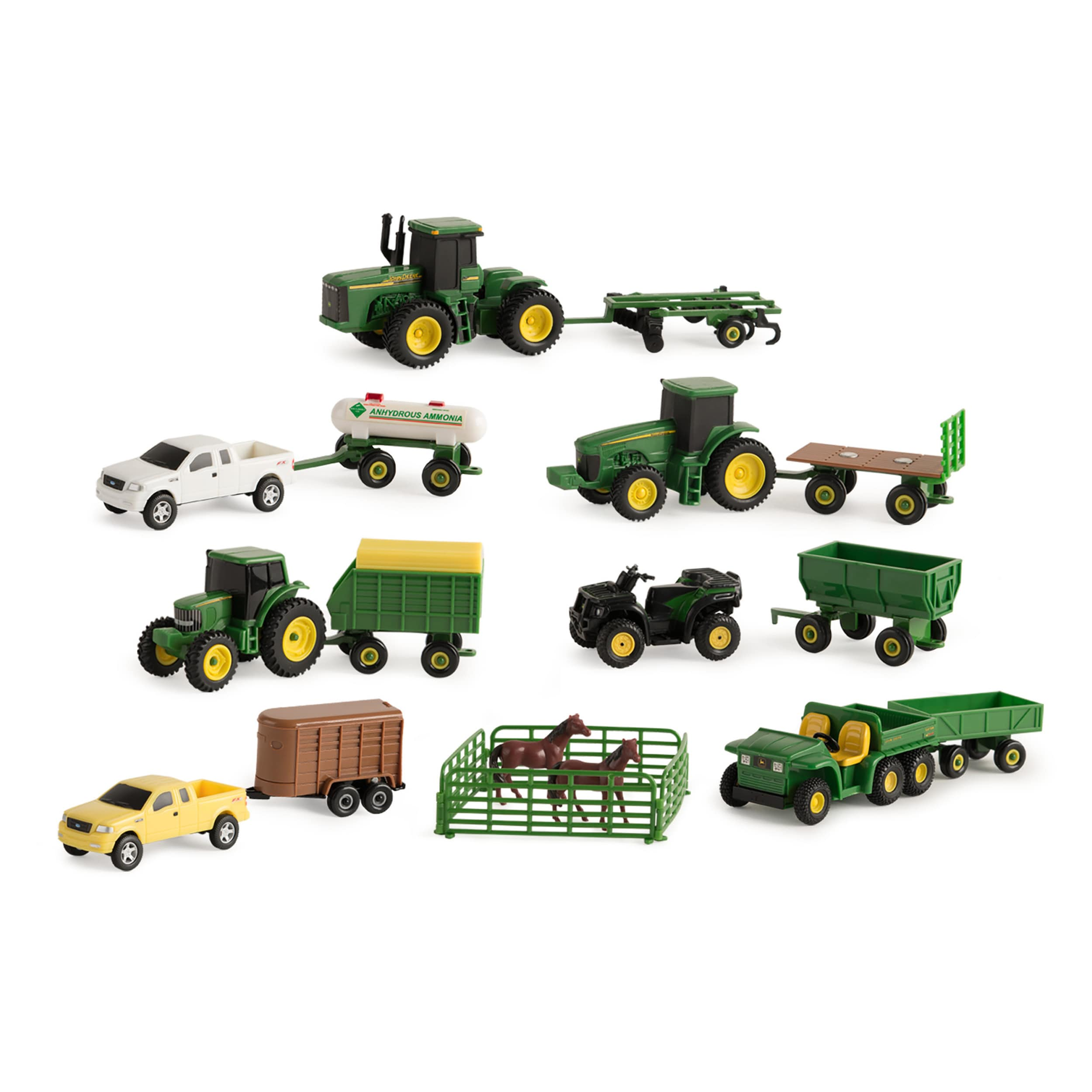 TOMY Harvesting Set With Peterbilt Model 367 Straight Tru...