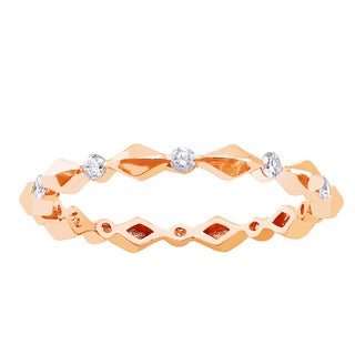 Beverly Hills Charm 10k Rose Gold 1/4ct TDW Diamond Eternity Wedding Band