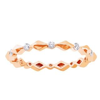 Beverly Hills Charm 10k Rose Gold 1/4ct TDW Diamond Eternity Wedding Band
