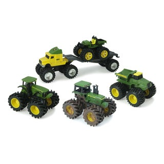 TOMY John Deere Take Along Backpack with Vehicles