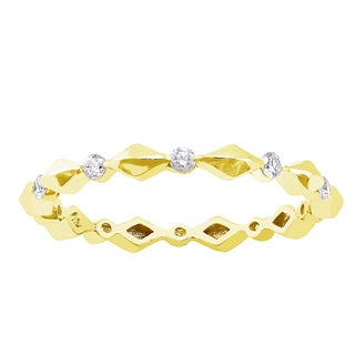 Beverly Hills Charm 10k yellow Gold 1/4ct TDW Diamond Eternity Wedding Band (H-I, I2-I3)