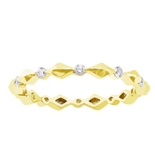 Beverly Hills Charm 10k yellow Gold 1/4ct TDW Diamond Eternity Wedding Band