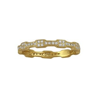 Beverly Hills Charm 10k Yellow Gold 1/4ct TDW Diamond Eternity Band Ring