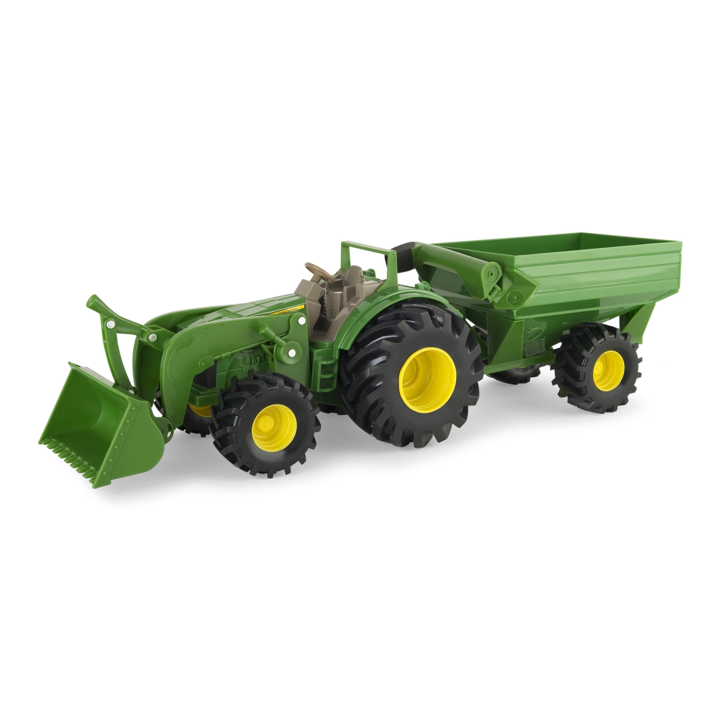 TOMY John Deere Monster Treads Tractor with Wagon (1), Multi