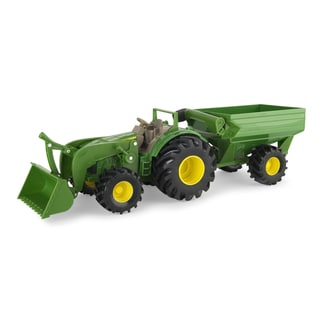 TOMY John Deere Monster Treads Tractor with Wagon