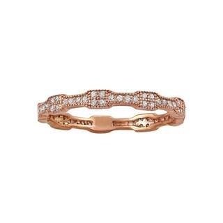 10k Rose Gold 1/4ct TDW Diamond Eternity Band Ring