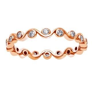 Beverly Hills Charm 10k Rose Gold 1/3ct TDW Diamond Eternity Stackable Band (H-I, I2-I3)