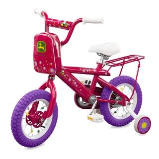 TOMY John Deere 12 Inch Girls Bicycle Pink