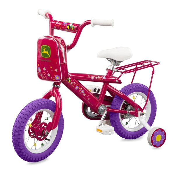 TOMY John Deere 12 Inch Girls Bicycle Pink