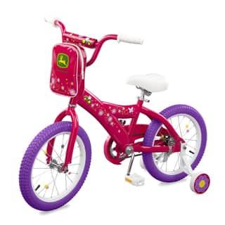 TOMY John Deere 16 Inch Girls Bicycle Pink|https://ak1.ostkcdn.com/images/products/13402445/P20098380.jpg?impolicy=medium