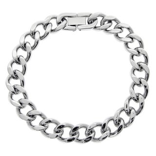 Men's Stainless Steel Curb Chain Bracelet, 9""