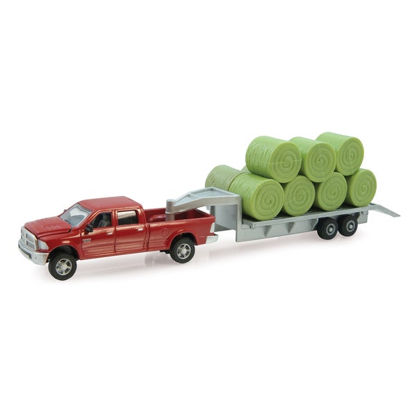 ERTL 1:64 Ram Pick Up with Trailer and Bales