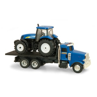 1:64 Scale John Deere Dealer Truck with T7030 Tractor