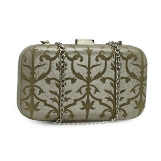 Handmade Jasbir Gill Women's Silver Leather Clutch (India) - One Size