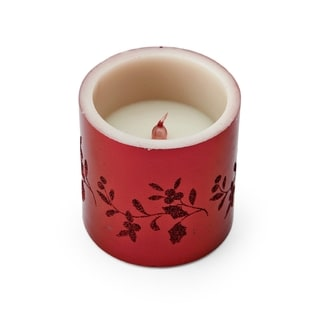 Pfaltzgraff Winterberry Red 4-inch LED Candle
