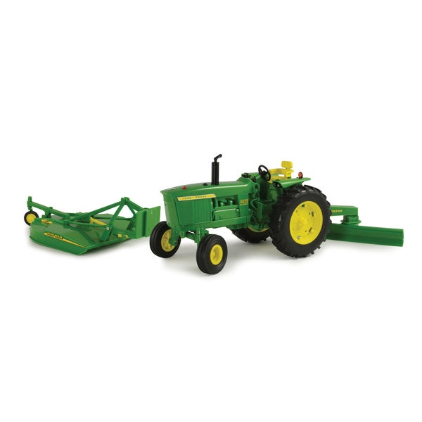 Big Farm John Deere 4020 with Rear Blade and Mower