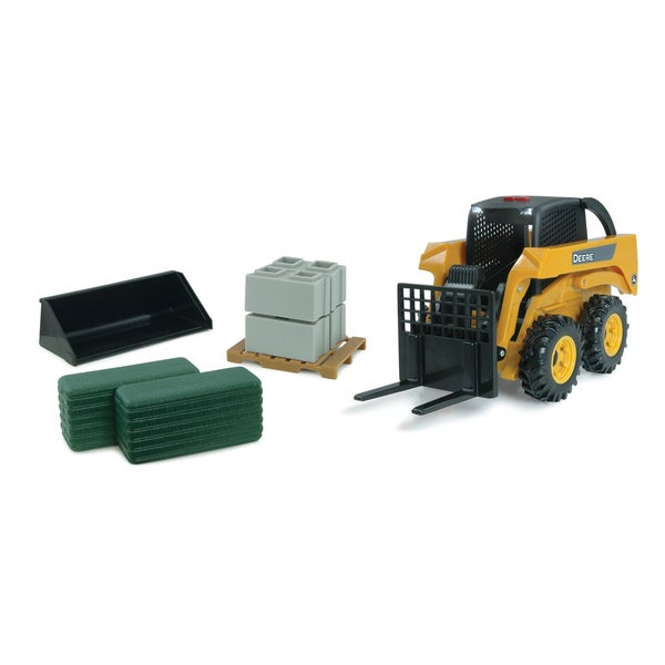 TOMY 1:16 Scale Big Farm John Deere Skid Steer Set
