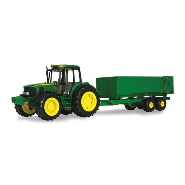 TOMY 1:16 Scale Big Farm John Deere Tractor with Wagon