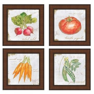 Emily Adams 'Garden Treasures' 8-inch Square Framed Art (Set of 4)