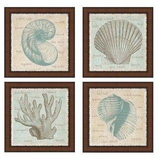 Erin Clark 'Sea Shells' Framed Art (Set of 4)