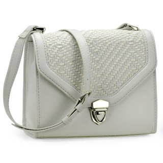 Jasbir Gill Women's White Leather Clutch (India)