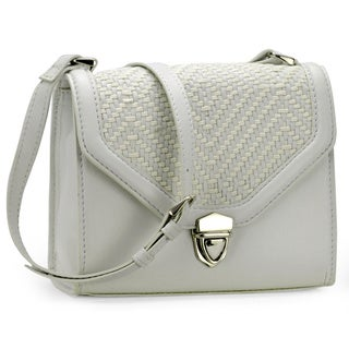Handmade Jasbir Gill Women's White Leather Clutch (India) - One size