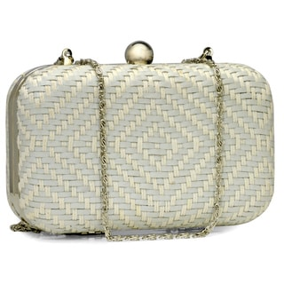 Jasbir Gill Women's White Leather Clasp Clutch (India)