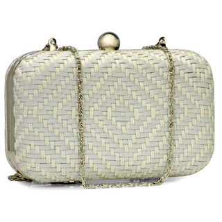 Handmade Jasbir Gill Women's White Leather Clasp Clutch (India) - One size